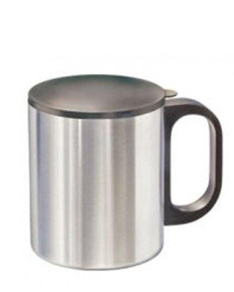 Metallbecher edelstahlbecher thermosflasche emailbecher for Deckel edelstahlbecher