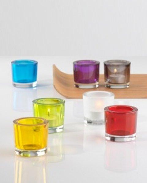 Deko glas vasen schalen glasteller karaffen for Teelichthalter glas bunt