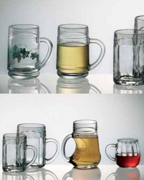 Eckenmasskrug Glass