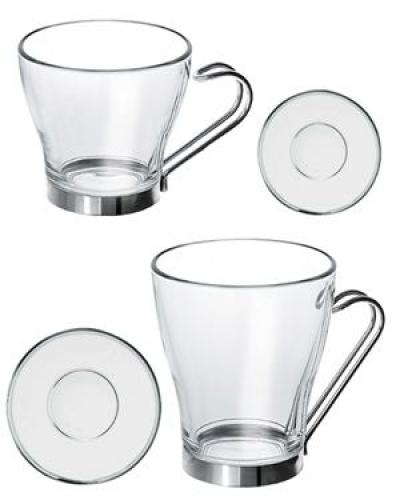 heissgetr nke glasbecher glastassen teetassen satiniertes glas kaffeeglas coffeeglas. Black Bedroom Furniture Sets. Home Design Ideas